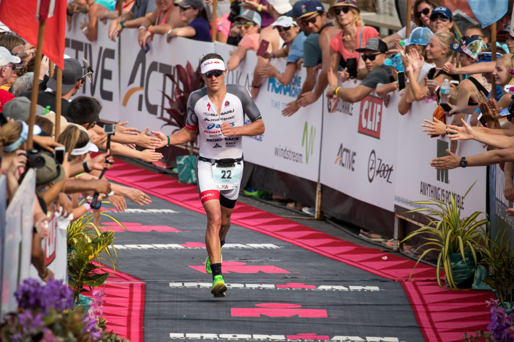 Braden Currie racing at Ironman World Championships in Kona