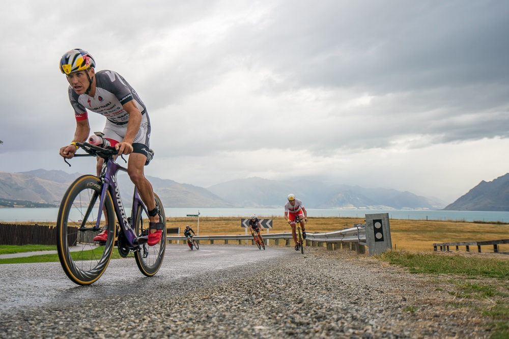 Braden Currie racing in his hometown at Challenge Wanaka