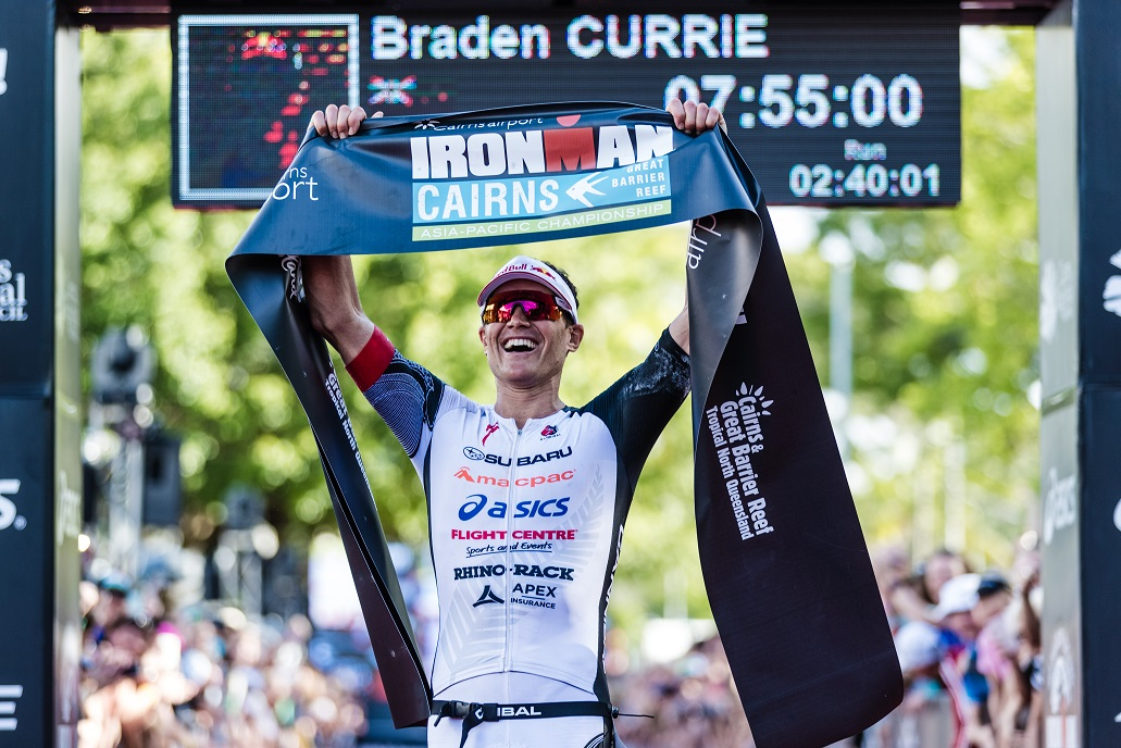 CURRIE BREAKS COURSE RECORD AT IRONMAN ASIA PACIFIC CHAMPIONSHIP