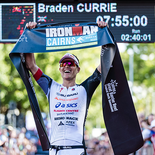 Braden Currie wins Cairns Ironman
