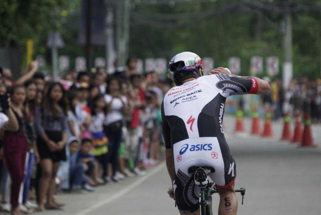 Braden Currie races at Ironman 70.3 in Philippines
