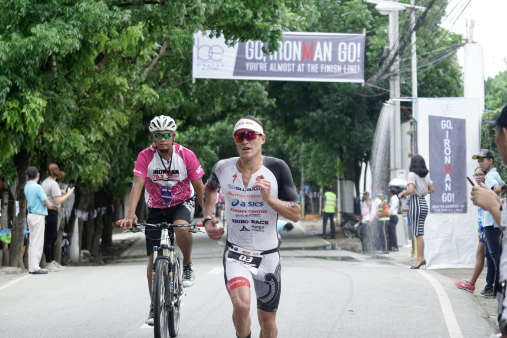 Braden Currie races at Ironman 70.3 Asia Pacific Championships in Cebu Philippines